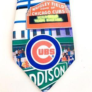 Cubs Wrigley Field World Series Neck Tie